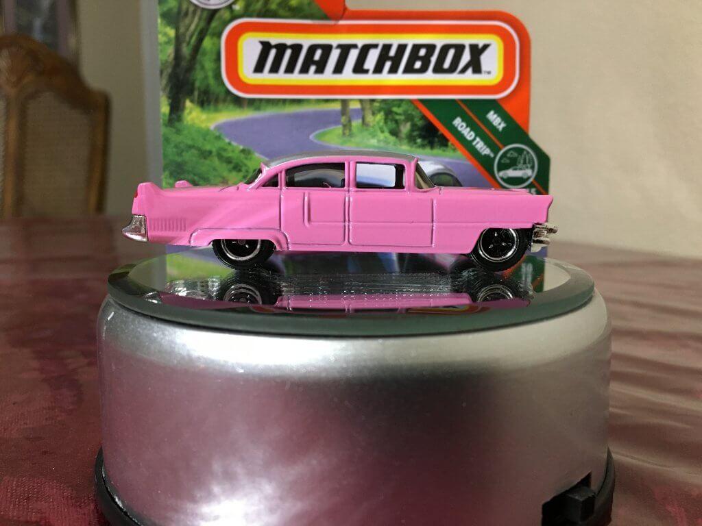 2019 '55 Pink Cadillac Fleetwood diecast car
